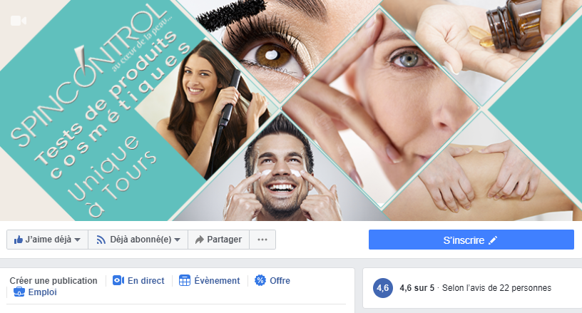 page Facebook du panel local de Spincontrol